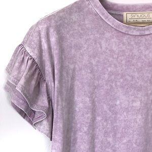 Sinuous Tops - Mineral wash shirt (L)